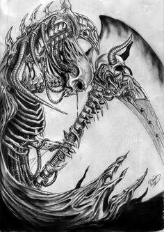 Skull and Snake