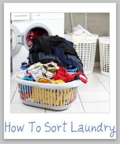 Guide for how to sort laundry {on Stain Removal 101}