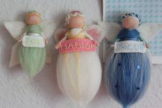 Weiteres -    Kleiner Schutzengel mit Namen in Wunschfarbe.. - ein Designerstück von Jalda-Filz bei DaWanda