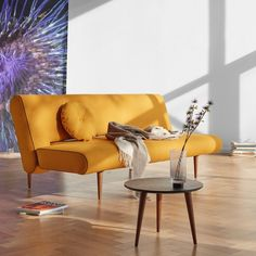 UNFURL vuodesohva - Innovation Living - Futonnetti.fi Small Space Living, Living Spaces, Living Room, Single Size Bed, Innovation Living, Beautiful Sofas, Bed Sizes, Danish Design, Dark Wood