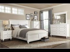 White Bedroom Set | White Beach Bedroom Set - YouTube