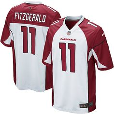 Nike Game Larry Fitzgerald White Men s Jersey - Arizona Cardinals  11 NFL  Road Broncos 2ed37338b