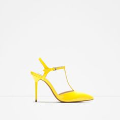 ZARA - WOMAN - HIGH-HEEL MULES WITH ANKLE STRAP