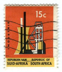 South Africa Postage stamp: Industrie