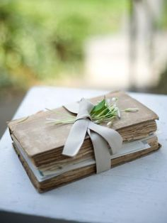 The Heart Book.  Make one for the Bride, one for the Groom.  For later.  Keeping memories fresh and warm.