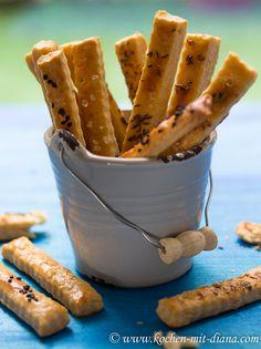 Kochen mit Diana/ Cooking with Diana: Käsestangen/ Cheese Sticks