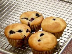 Blueberry Muffins - sprinkle raw sugar on top before baking for crunchy sweetness