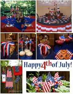 cute 4th of july party ideas...makes me miss summer!     July 4th Party Ideas! on http://pizzazzerie.com