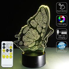 #3D #Butterfly #Optical #Lamp #geekled