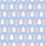 Ice cream wallpaper designed by Cathy Nordstrom, available at Photowall.