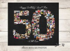 20x24 with 123 photos: 50th Wedding Anniversary Gift, 50th Birthday Decoration…