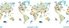 Iconic Cultural World Map | Pop and Lolli