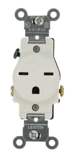 Leviton 5029W 15Amp 250Volt Narrow Body Single Receptacle Straight Blade Commercial Grade Grounding White >>> You can get additional details at the image link.Note:It is affiliate link to Amazon.