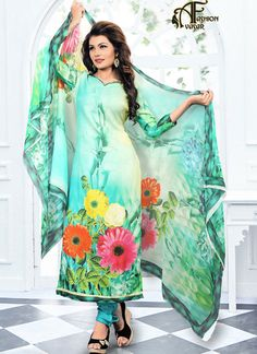 Floral Printed Salwar Kameez