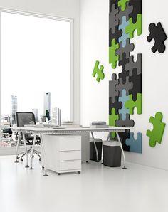 Dekoracyjne panele do przestrzeni biurowych Fluffo. decoracja.pl | Materiały dekoracyjne do wnętrz