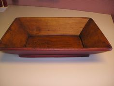 Large Rectangular Vintage Wooden Bowl ~NICE~ from connieskozykitchen on Ruby Lane