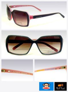 Pink-rimmed Paul Frank faded shades for the quintessential  girly-girl!
