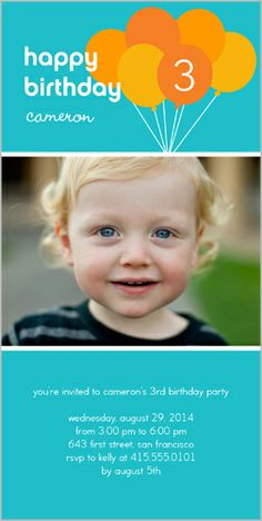 Bouncy Balloons 4x8 Photo Card by Shutterfly