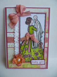 Birth congratulations baby girl. Using Gecko Galz papers and A Day for Daisies image