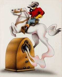 David Willardson The Lone Ranger Illustration Original Art   LotID #67029   Heritage Auctions
