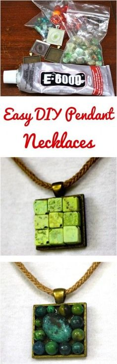 Easy DIY Bead Pendant Necklaces! I love how easy it is to make your own jewelry, and this necklace tutorial couldn't be simpler! | TheFrugalGirls.com