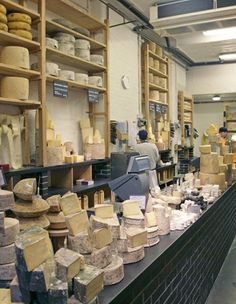 Neal's Yard Dairy, Borough Market, London. Epitome of a dairy. Jaw dropping selection of cheese.