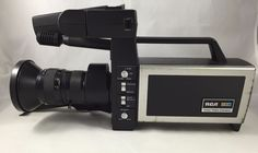 RCA Color Video Camera CC010 1980s Carrying Case Power Adapter Zoom Lens Prop  #RCA