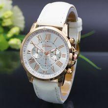 Nova genebra mulheres relógio relógios de quartzo Sports mulheres relógio de ouro relógios de pulso casuais feminino(China (Mainland))
