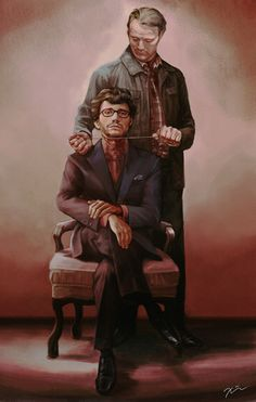 """""""They are not switching their outfits but their heads ;-) """" Hannibal and Will by velvet-toucher on Tumblr"""