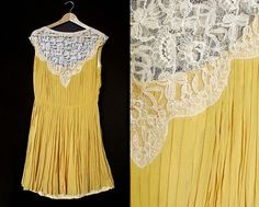 Vintage yellow dress.