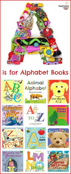 a huge list of the best alphabet books for kids!