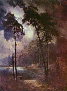 Alexei Savrasov - Summer Night (oil on canvas, 1883)