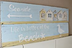 Great signs made from plywood. Courtesy of HomeTalk.