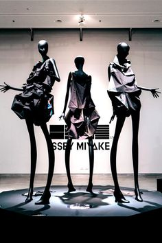 Li Edelkoort exhibits Issey Miyake garments at Design Museum Holon. Exhibition displaying Issey Miyake garments alongside work by Marcel Wanders and others.