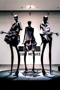 Li Edelkoort exhibits Issey Miyake garments at Design Museum Holon.