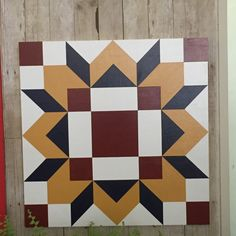 Barn Quilt - 1506 by Barefootpeddler on Etsy Barn Quilt Designs, Barn Quilt Patterns, Quilting Designs, Paint Patterns, Longarm Quilting, Machine Quilting, Painted Barn Quilts, History Of Quilting, Woodworking Projects