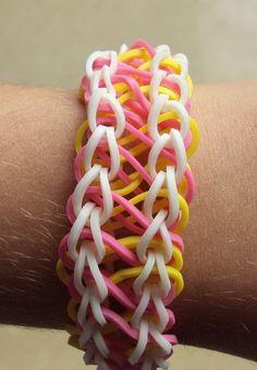 Figure 8 Rainbow Loom Bracelet or what i like to call, taffy twist :D