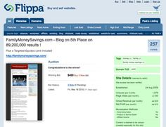 This is one of the best blog flipping experience, more than 2 years ago!