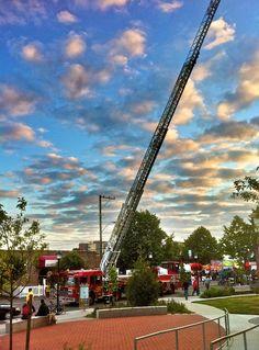 Ladder 11 showed off their highest ladder truck at Summerfest in West Seattle