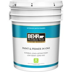 BEHR Premium Plus 5 gal. Satin Enamel Interior Paint
