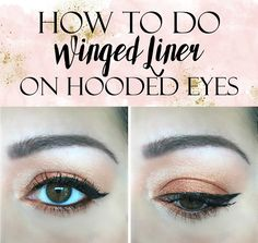 How to Apply Winged Liner on Hooded Eyes // Tutorial