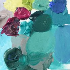 Enjoying my Saturday in the studio with some lovely jewel tones.#darlingweekend
