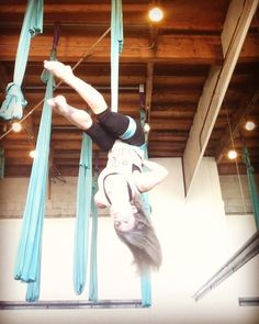 """38 Likes, 3 Comments - Sherry Bomb (@polerockstar) on Instagram: """"Another fun combo from class today @airfitlosangeles! #aerial #silks #hammock #airfit #aerialnation…"""""""