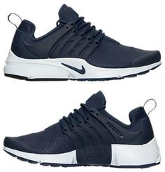 NIKE AIR PRESTO PREMIUM WOMEN's RUNNING MIDNIGHT NAVY - BLUE - WHITE AUTHENTIC