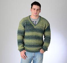 Knit him a jersey with this simple pattern | 'n Eenvoudige breipatroon vir hom #Knitting #pattern #jersey
