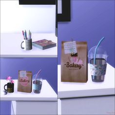 """monysims4: """" Hi people! How about a few more things for the office? Come download these cute things! DOWNLOAD """""""