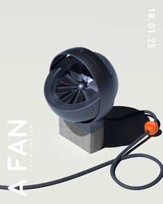 """""""A FAN"""" is a concept desk fan created for the community design challenge hosted by Creative Session. A Fan was modeled in Fusion 360 and rendered with Octane Render for Cinema Id Design, Shape Design, Moderne Outfits, Craft Packaging, Portable Fan, Desk Fan, Medical Design, Retro Futuristic, Electronics Gadgets"""