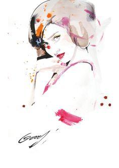 Garytu's fashion illustration pink 001 by TUZHIDAO , via Behance