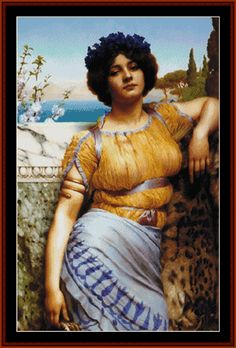 Ionian Dancing Girl - Godward cross stitch pattern by Cross Stitch Collectibles
