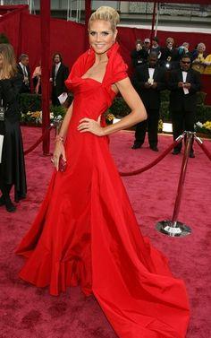 Heidi Klum Red Oscar dress